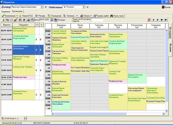 Документооборот...  Управление филиальной структурой.  Ведение картотеки пациентов и электронной истории болезни.